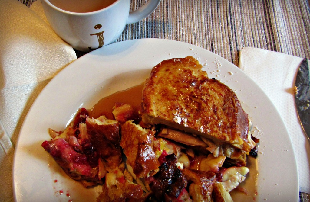 Thanksgiving Leftovers: French Toast Sandwich with Espresso-Candied Bacon