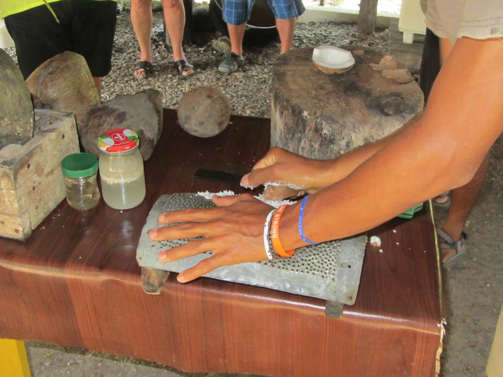 Grating Coconut
