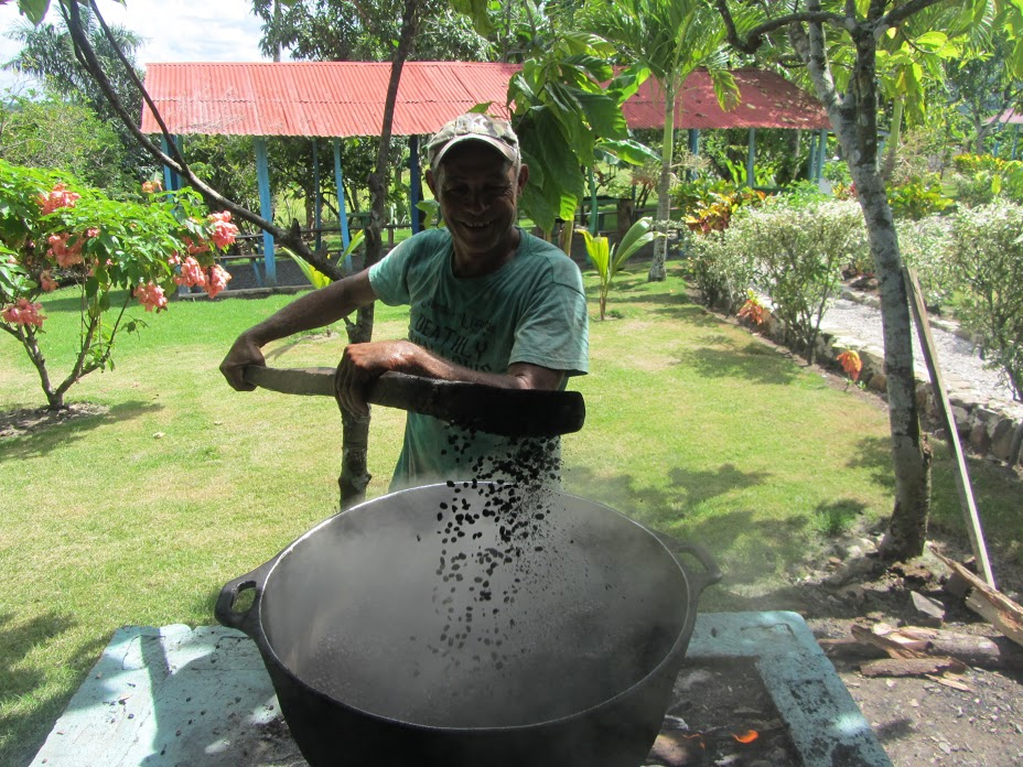 Punta Cana- Showing the Roasted Beans