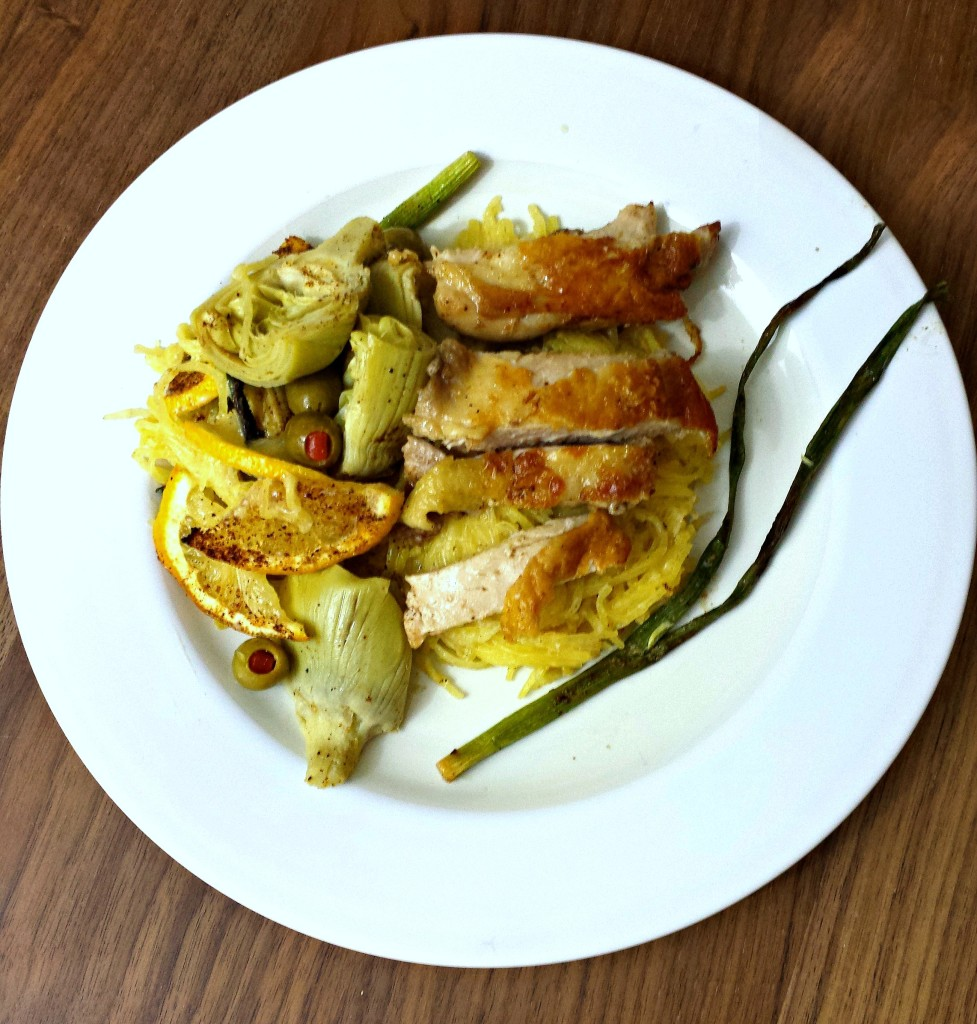 Lemon & Artichoke Crackling Chicken Alfredo