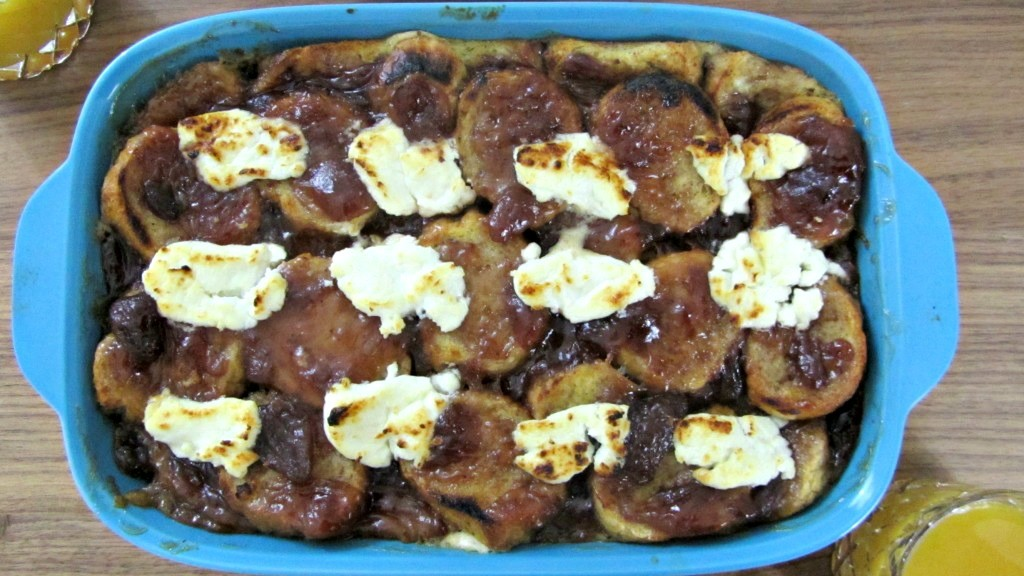 Strawberry & Goat Cheese Baked French Toast