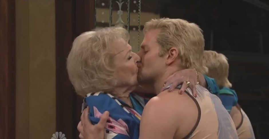 Betty White and Bradley Cooper